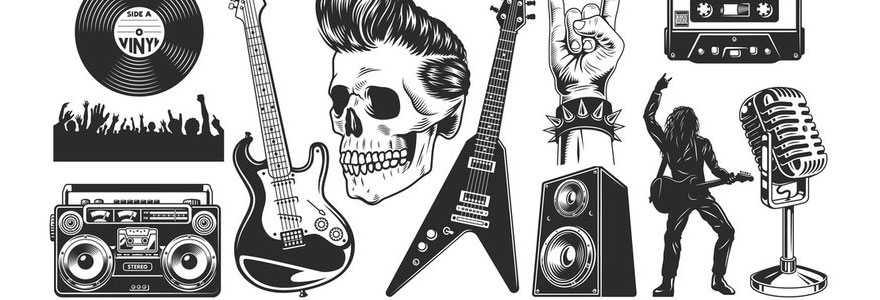 stickers rock musique
